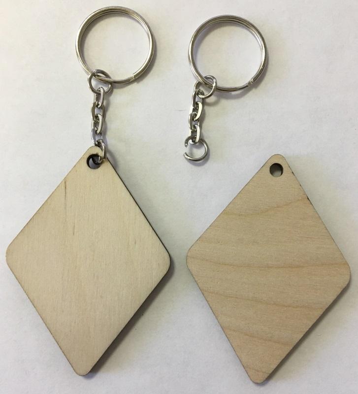 Заготовки для сублимации Деревянные брелоки