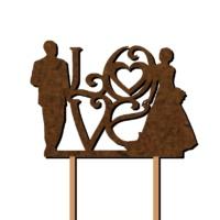 Свадебный неокрашеный